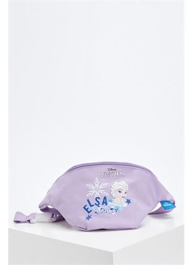 DeFacto Kız Çocuk Elsa Lisanslı Bel Çantası Mor
